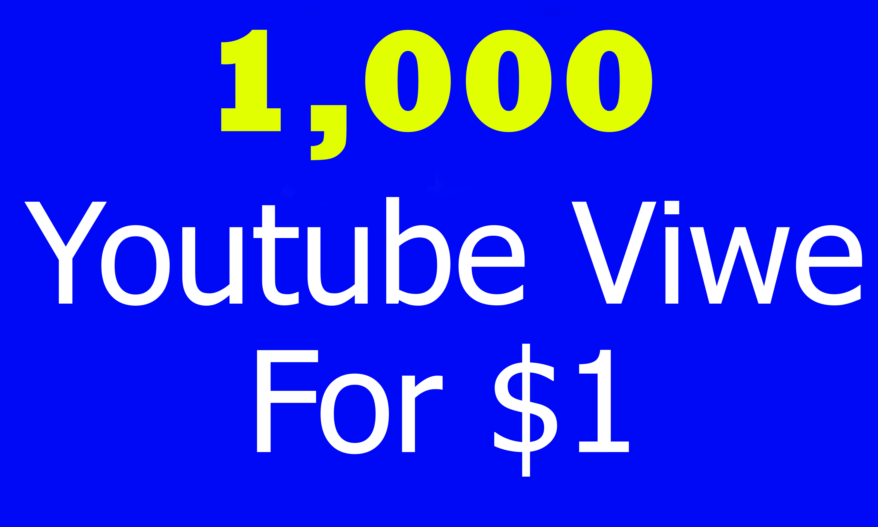 Start Instant 1,000 Youtube Views OR 10++Like OR 10++Comment and 10++subscribers  Super Fast delivery