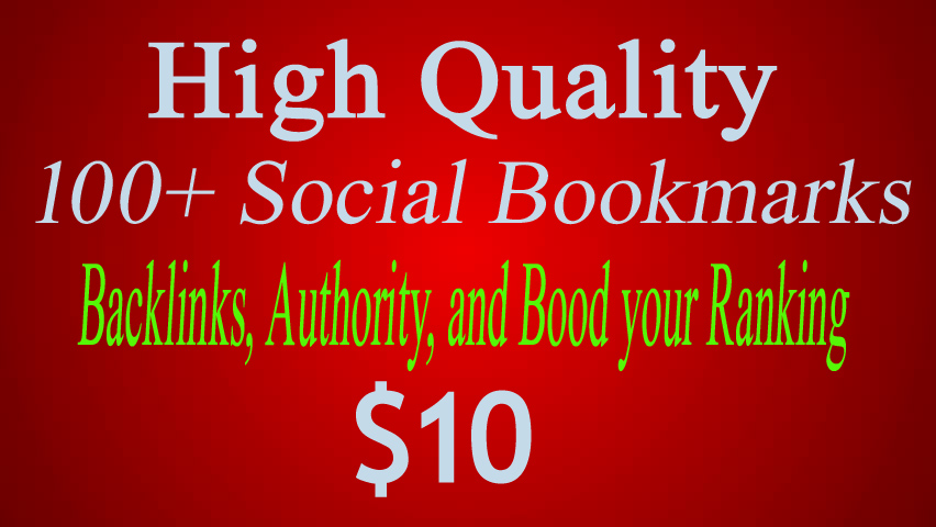 Manually Created 100+ Social Bookmarks To Your Site In 5 Days