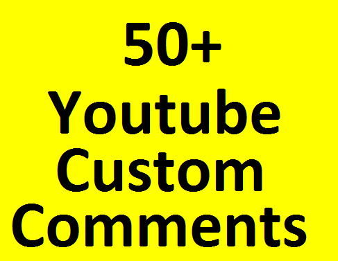 50+ YouTube Real non drop custom C omments with 33+ L ikes bonus very fast in 1-2 hours completed