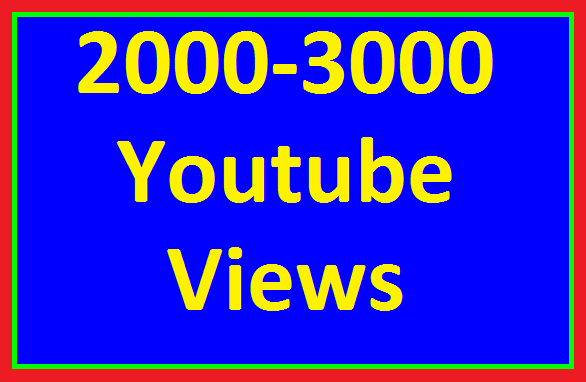 Instant Start 1500 to 2000 High Quality YouTube Views Non Refill Guaranteed in 12-24 hours Completed
