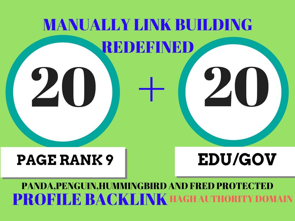 20 Pr9 + 20 Edu - Gov High Pr SEO Authority Backlinks...