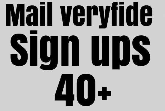 Unique and mail veryfide any 40+ sign ups