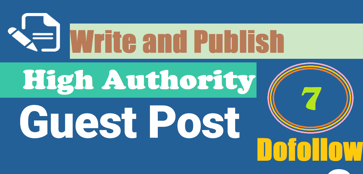 Write and Publish 7 High Authority Guest Post DA50+ PA60+ Abilogic,  Evernote,  Penzu,  Thebaynet etc