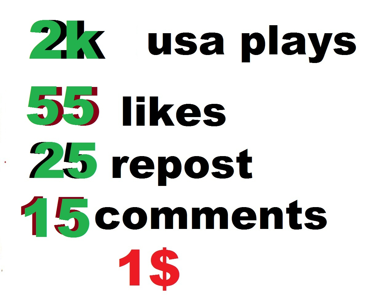 2000 usa high retention soundcloud plays 55 likes 25 repost and 15 comments