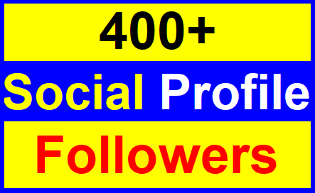 Add 400+High Quality Profile Followers With Lifetimes Guaranteed Just