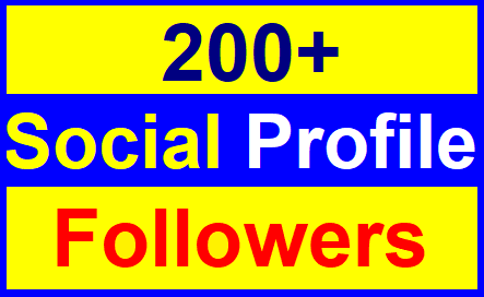 Add 200+High Quality Profile Followers With Lifetimes Guaranteed Just