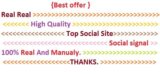 Great Top 6 Powerful Platform 3600 social signals HIGH PR