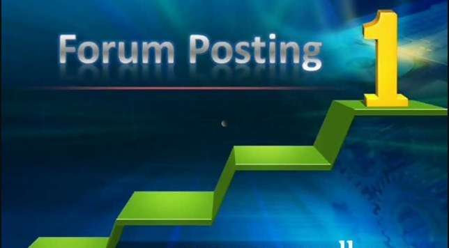 Do forum posting with links