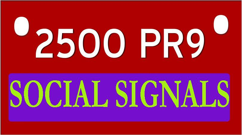 build 2500 Quality Social Signals from top 5 social sites for ranking your URL