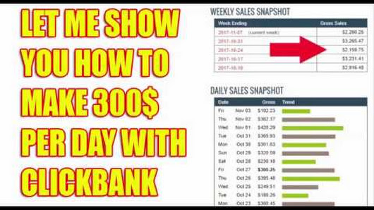 Show You How To Make 300$ Daily With CLICKBANK