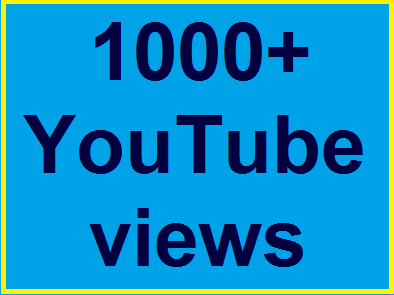 1000-1500 high quality Youtube views non drop refill guaranteed within 12-24 hours complete