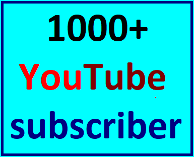 1000+Youtube channel subscriber non drop Lifetime guaranteed instant start