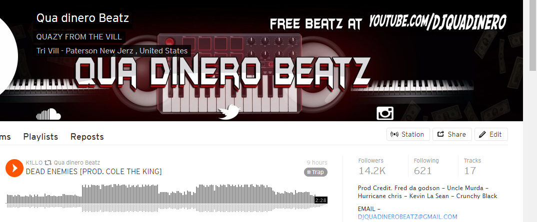 Repost your track to my soundcloud 14k+ Followers - Guaranteed real 1000+ plays