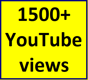 1500-2000 high quality youtube views non drop guaranteed instant delivery