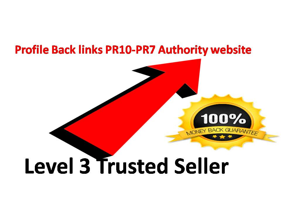 10 Profile Back links PR10-PR7 Authority website