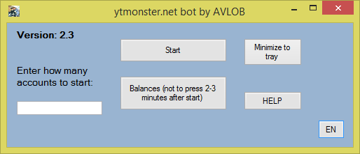 Multithreaded bot for ytmonster