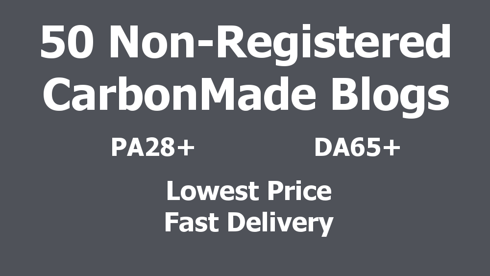 BEST PRICE - 50 Non-Registered Expired Carbonmade Blogs