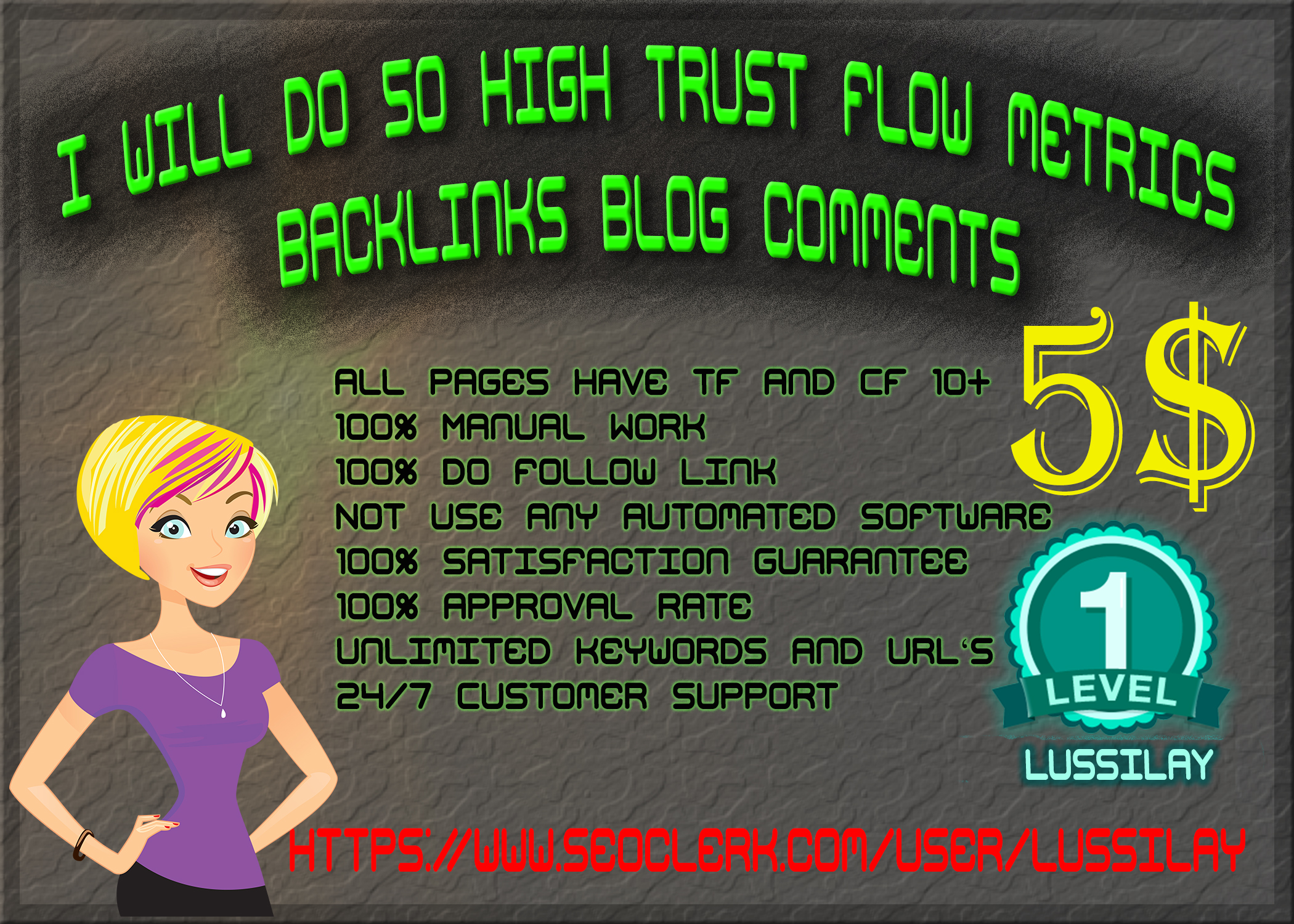 50 Manual High Trust Flow Do-Follow Blog Comments