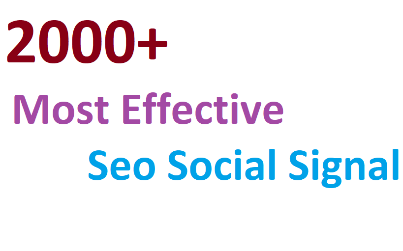2000+ most Affective and Permanent High quality HQ PR social signal to boost you Link
