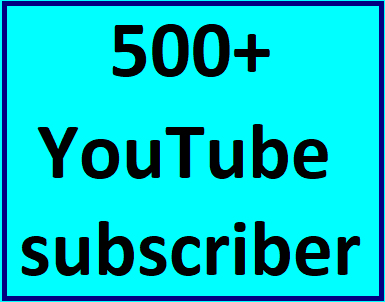 500+Youtube channel subscriber non drop guaranteed instant start