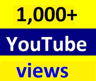 Safe 1,000+HQ You-Tube vi'ews non drop refill guaranteed Just