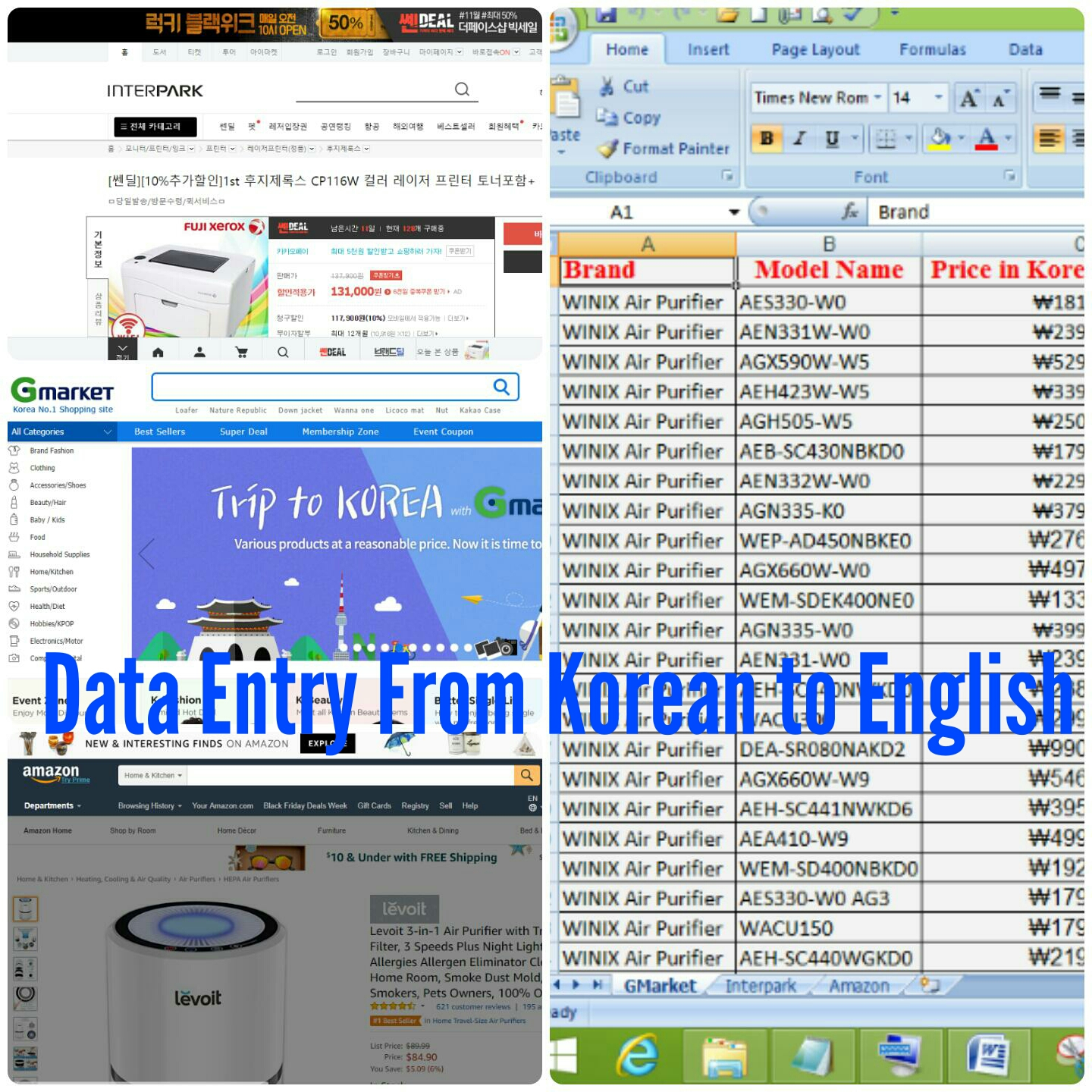 Translation English/Korean/Bengali With Data entry And SEO Expert