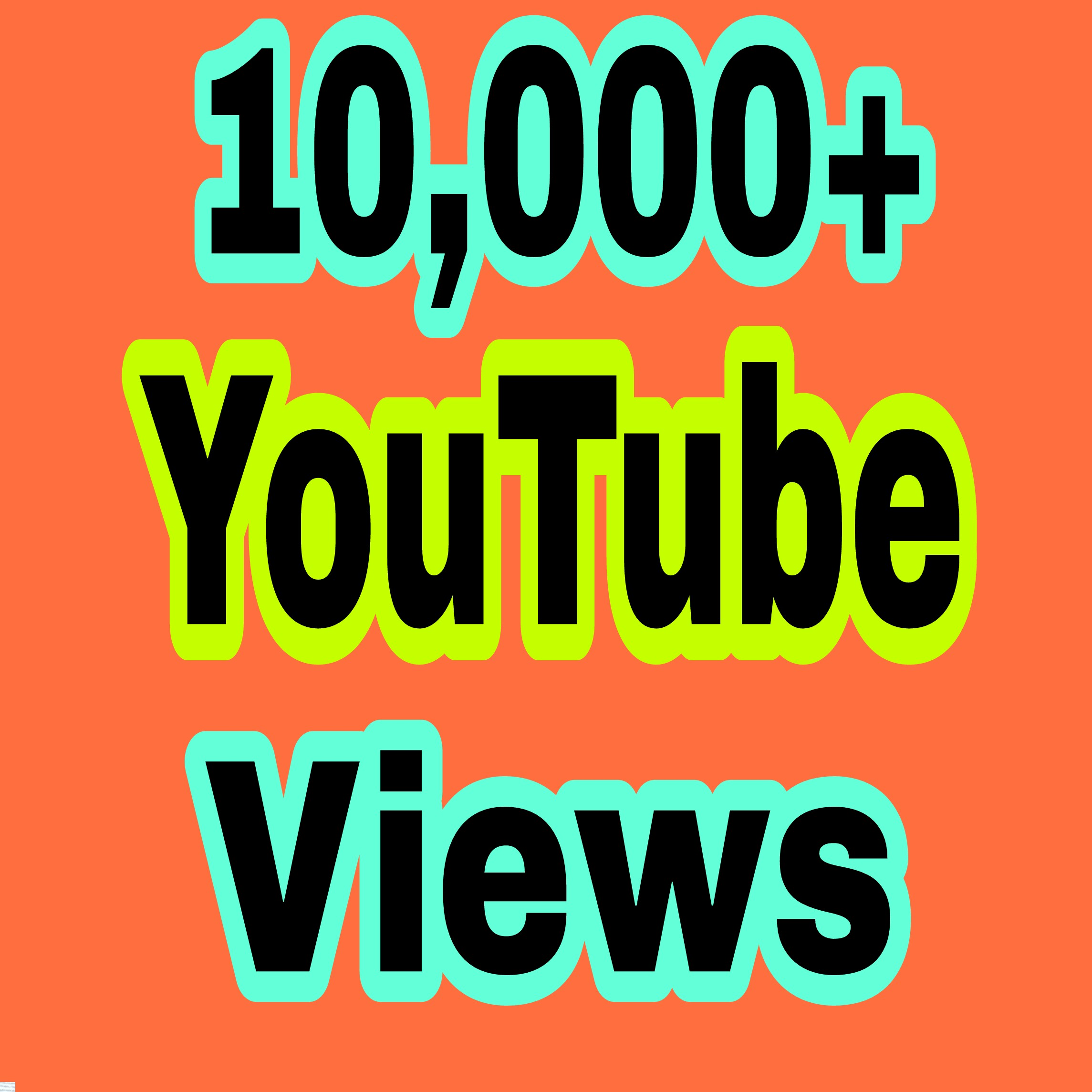 Safe 10,000+ HR ,You Tube V-iews non drop Refill Guaranteed  very fast delivery