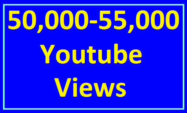 Add 50,000/50k to 55,000/55k High Retention View's Non Drop Refill guaranteed Very Fast Completed