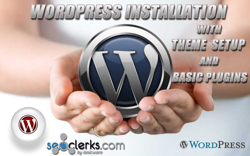 Install Wordpress on your server, with Plugins and Theme
