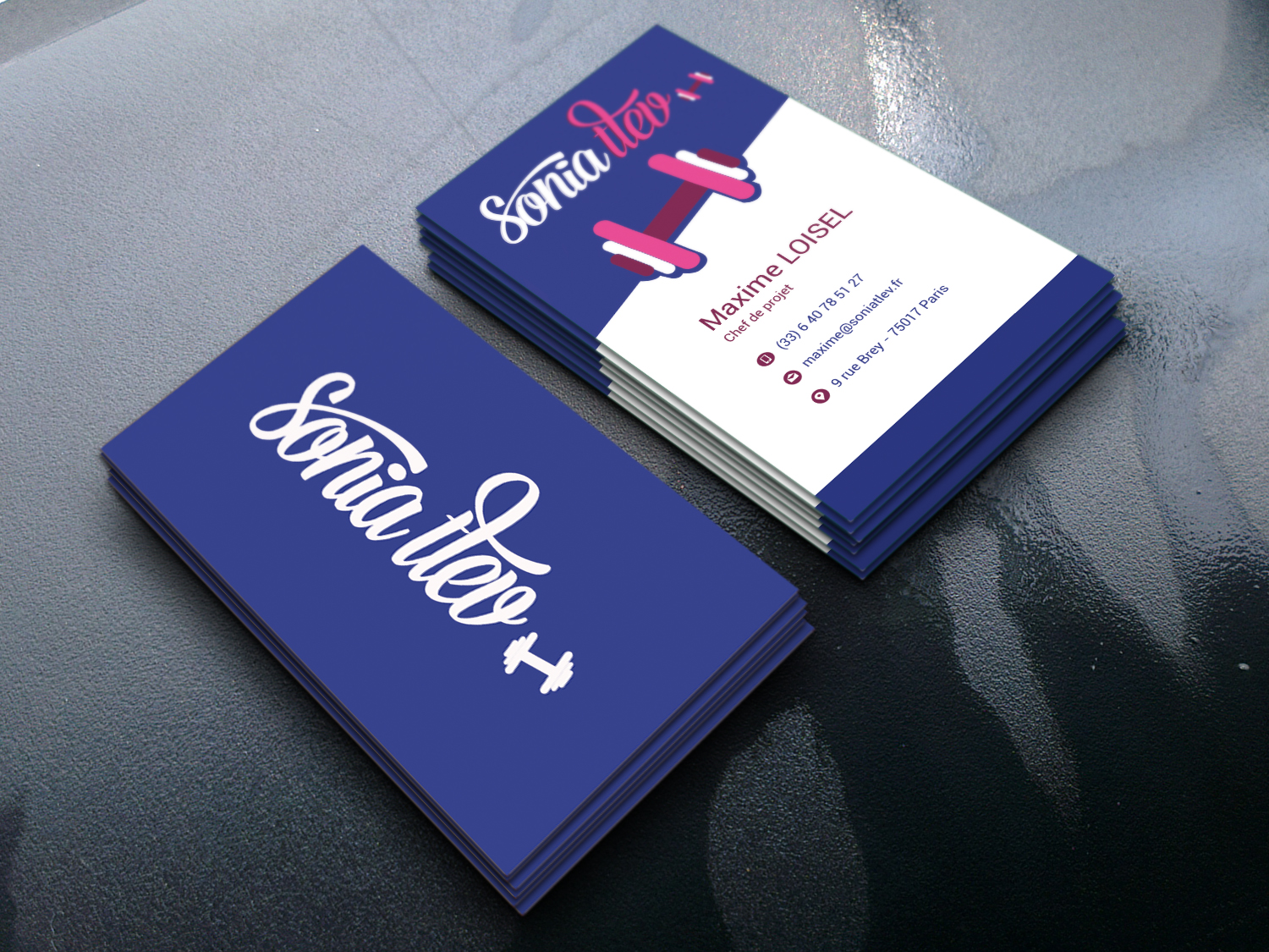 Eye caching & stylish Business card design
