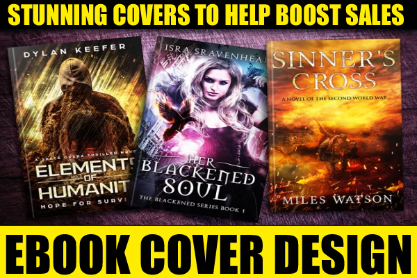design an amazing COVER for ur KINDLE AMAZON novel or EBOOK