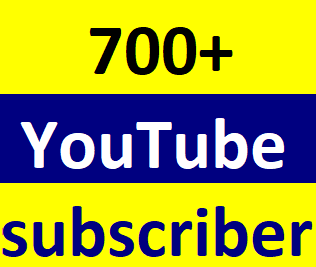 Instant start 700+You-Tube manually subcriber non drop Just