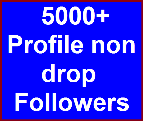Add 5000+ High Quality Fast Profile Followers Instant Start