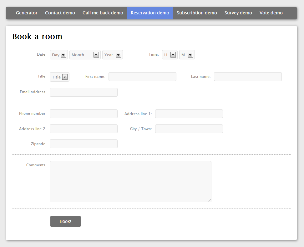 Make Php,Html,Css,Mysql,Bootstrap Forms Of Any Type