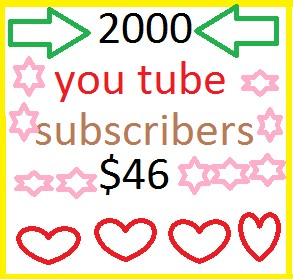 2000 You Tube Subscribers Or 5500 You Tube Likes Or 3000 Auto Comments