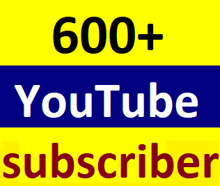 Instant start 600+You'tube channel subscriber non drop guaranteed