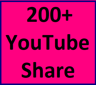 200+Youtube share within 2-4 hours in complete