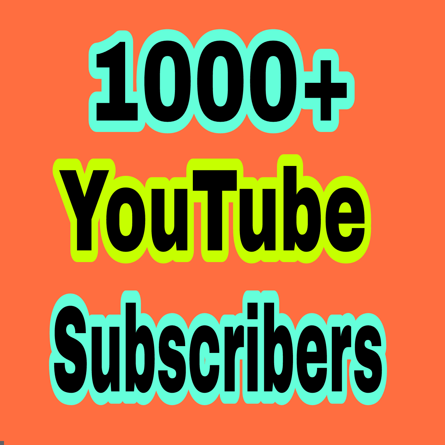 1000+ You Tube Chanel Subs Cribers non drop guaranteed in 24-96 hours completed just