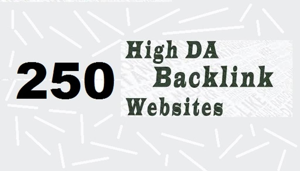 Create 250 high DA contextual backlinks