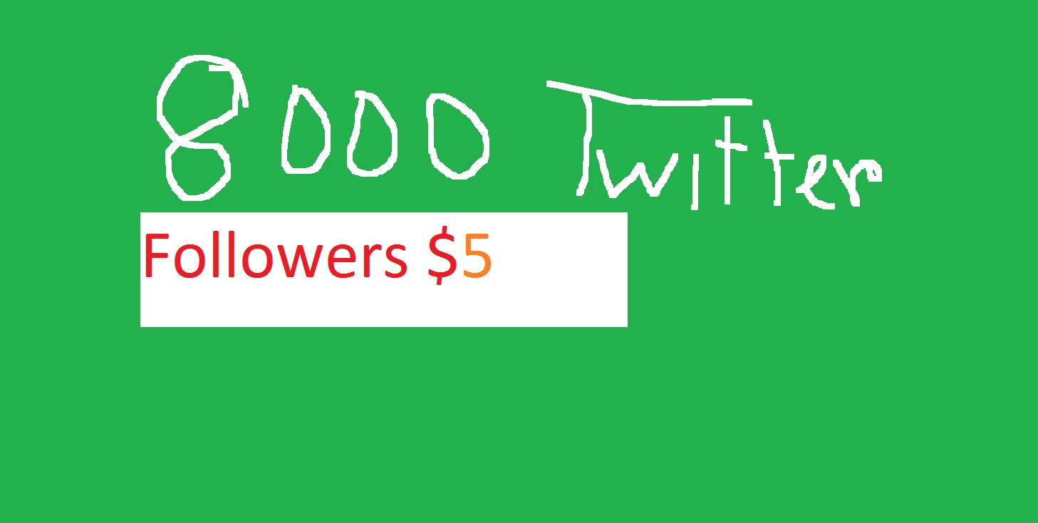 Let 8000 Real and active People Follow you on Twitter for