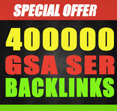 Provide 400,000 Gsa, Ser,  Backlinks For Ranking Website
