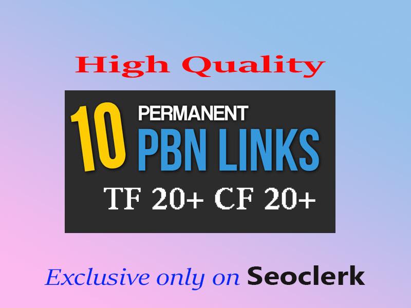 10 pbn backlinks high tf cf da pa dofollow links homepage seo