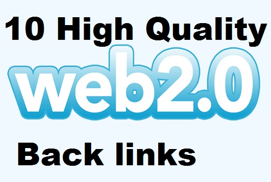 Manually do 10 web 2.0 from Top sites to boost rank