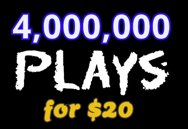 Get 4,000,000 Audio Music Play, 500 Llkes, 300 Rep0st, 50 C0mments