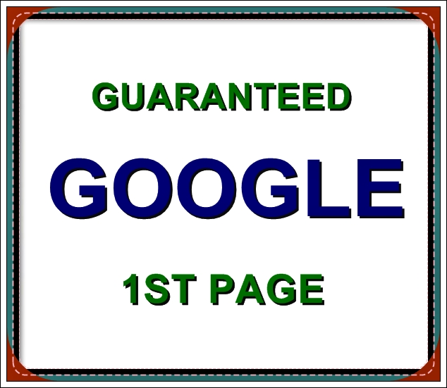 guaranteed google 1st page