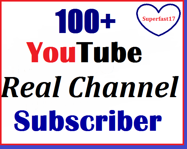 Instant 130+ Youtube Real channel subs-criber non drop guaranteed