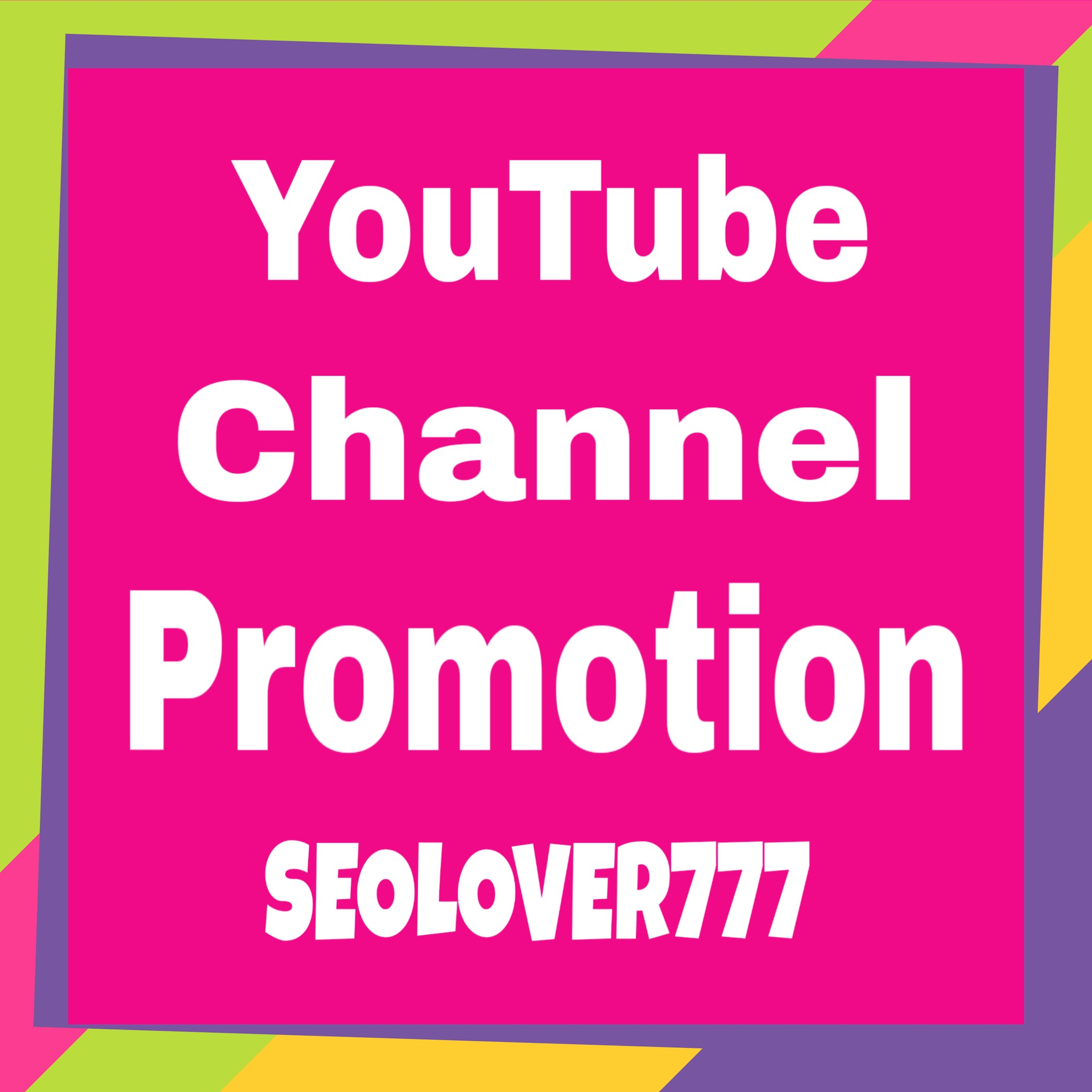 YouTube Promotion & Marketing via real users only