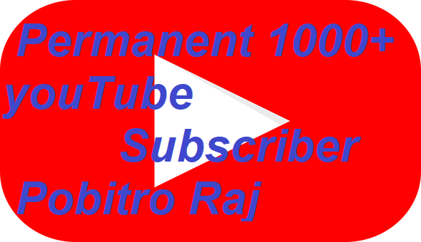 add 1000+ youtube subscriber permanent and non-drop