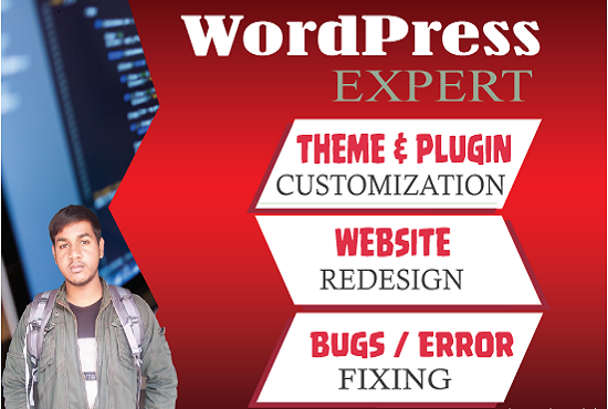 Create WordPress Website, redesign and fix it with one month free support