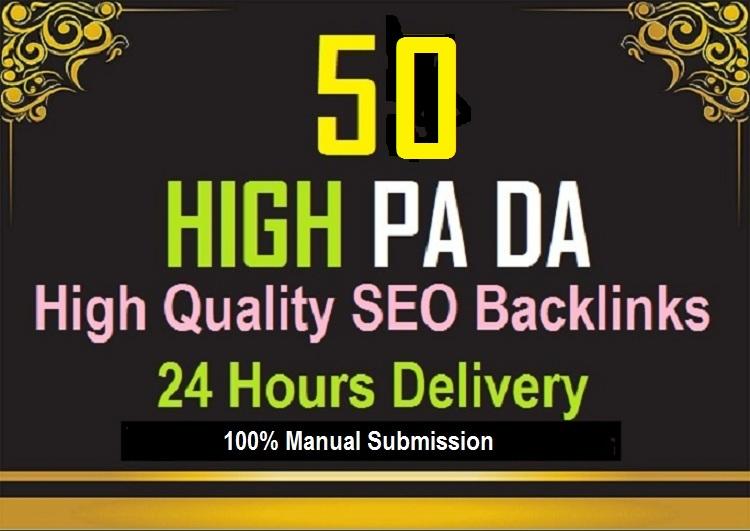 Give High PA DA and High PR permanent SEO powerful Backlinks